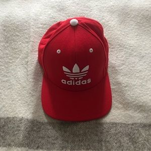 Red adidas SnapBack hat